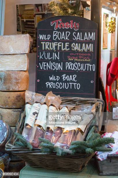 Salami in Borough Market, London