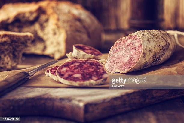 salami - pepperoni stock photos and pictures