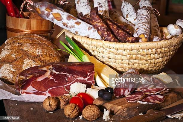 Salami, Prosciutto and Sausage