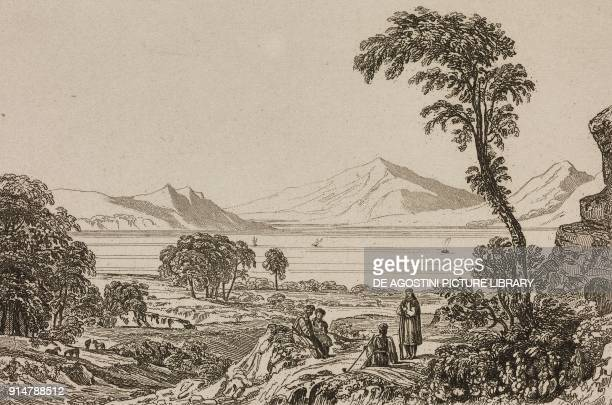 Salamis Bay Greece engraving from Grece by Francois Pouqueville L'Univers pittoresque Europe published by Firmin Didot Freres Paris 1835