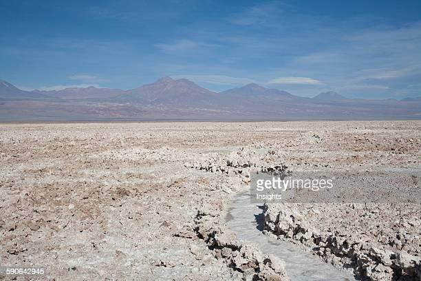 Salar De Atacama Salt Pan With The Andes Cordillera In The Background Antofagasta Region Chile