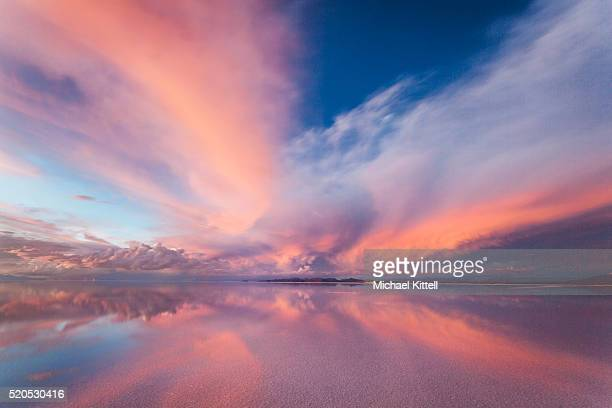 salar glow - sunset stock pictures, royalty-free photos & images