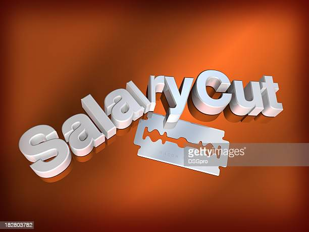 salary cut - cutting stock pictures, royalty-free photos & images