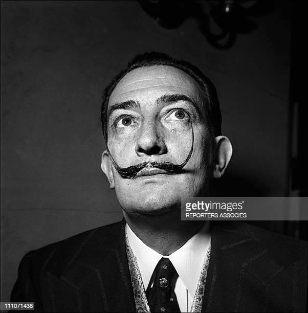 Salavdor Dali Portrait In Paris France In 1953