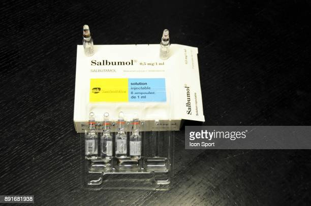 Salbutamol medicament used by cyclist Christopher Froome during Tour of Spain 2017 to treat his asthma on December 13 2017 in Paris France