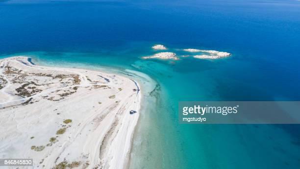 Salda lake Burdur Turkey aerial view photography