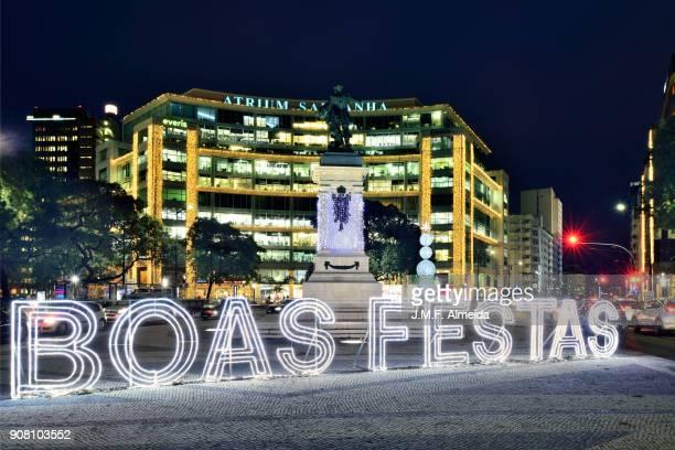 saldanha - boas festas (christmas holidays greetings) - boas festas stock pictures, royalty-free photos & images