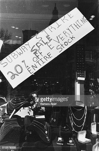 Sale at a Manhattan jewellery store during the transit strike, New York City, USA, 3rd April 1980.