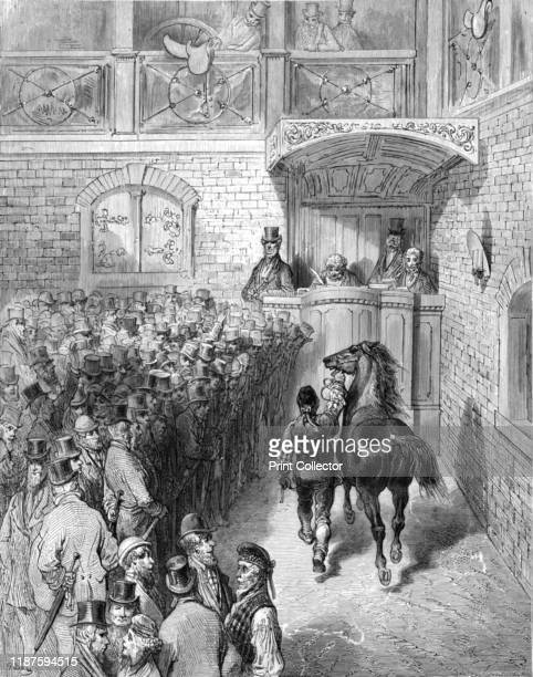 A Sale at Tattersall's' 1872 Sale of a thoroughbred racehorse by auction at Tattersall's second premises in Knightsbridge From LONDON A Pilgrimage by...