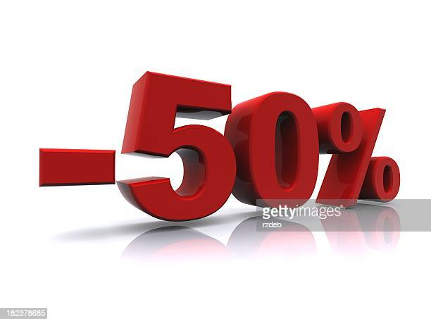 50% sale high resolution rendering - number 50 stock pictures, royalty-free photos & images