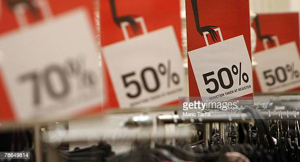 Sale items are seen in an H M store December 26 2007 in New York City Deep discounts were being offered nationwide by retailers on the day after...