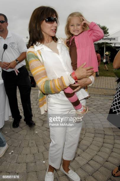 Sale Johnson and Ava Monroe attend 34th Annual HAMPTON CLASSIC Horse Show at The Grand Prix Tent on August 30 2009 in Bridgehampton NY