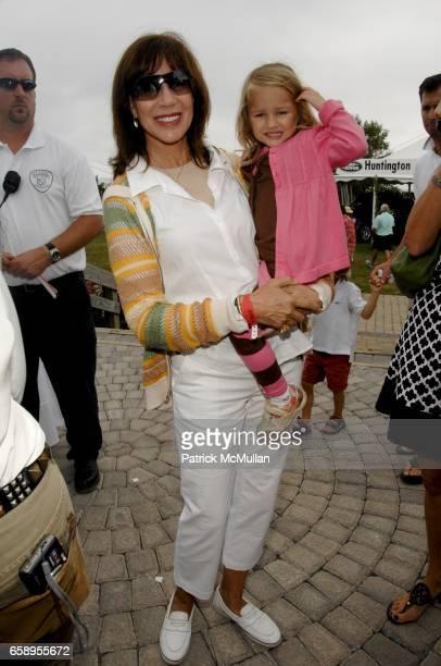 Sale Johnson and Ava Monroe attend 34th Annual HAMPTON CLASSIC Horse Show at The Grand Prix Tent on August 30 2009 in Bridgehampton NY