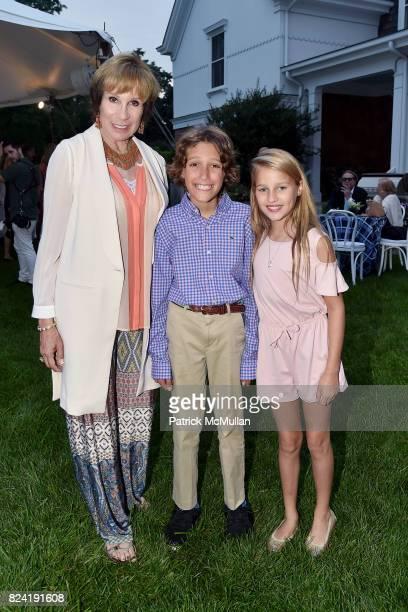 Sale Johnson Fletcher Kaneb and Ava Johnson attend Alzheimer's Association Hosts Rita Hayworth Gala Hamptons Kickoff Event at Private Residence on...