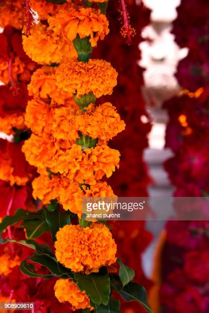 Sale of Flowers for worship outside of temple