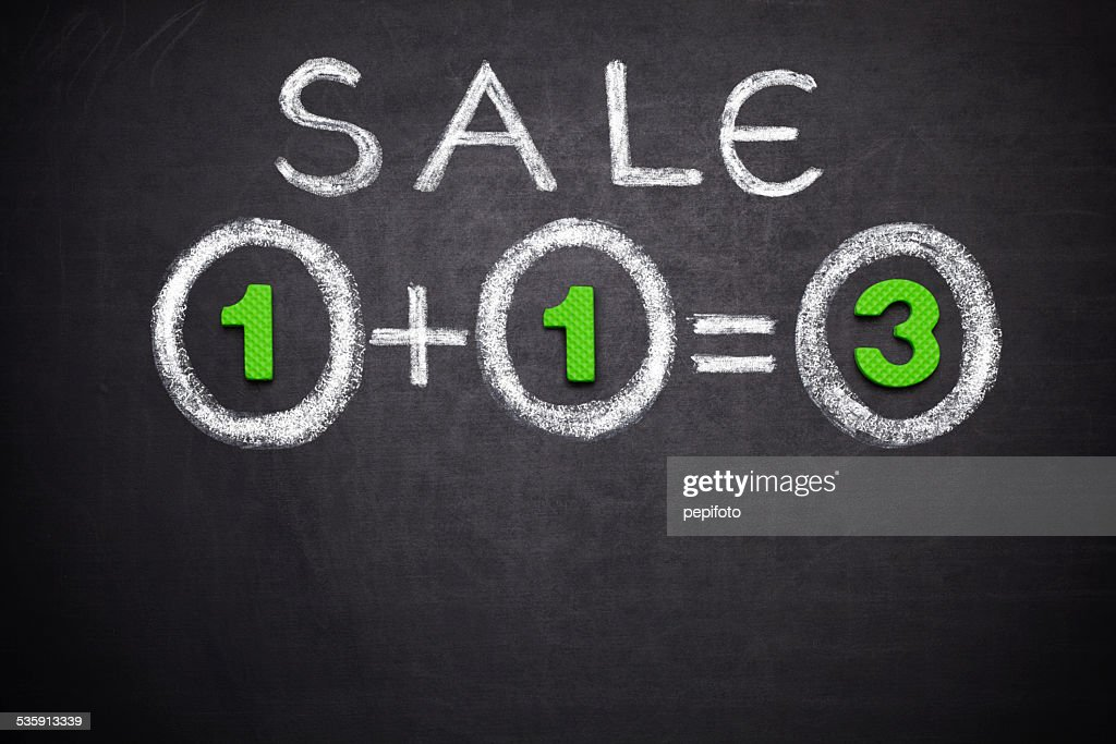 1+1=3 Sale : Stock Photo