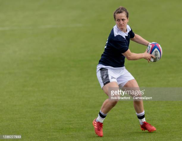 Sale Sharks' Katy Daley-Mclean during the Allianz Premier 15s match between Exeter Chiefs Women and Sale Sharks Women at Sandy Park on September 12,...