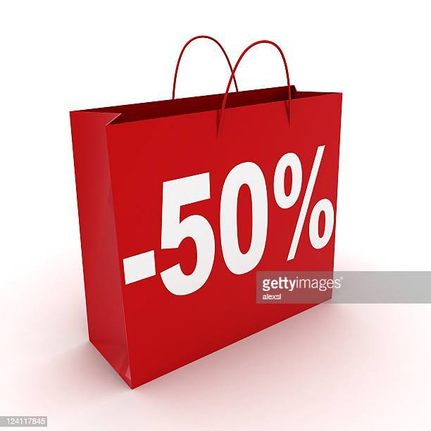 sale shopping bag - number 50 stock pictures, royalty-free photos & images