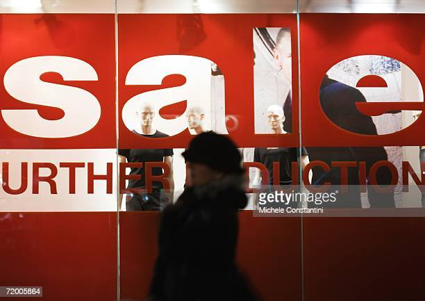 sale sign on shop window - typographies stock photos and pictures