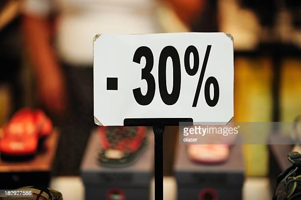 30% sale sign