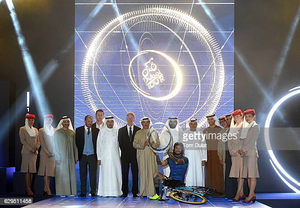 Saleh Mohamed Al Geziry Vice President of Meraas Lorenzo Giorgetti Rcs Sports and Events DMCC CEO Philipe Roten Tag Heuer Commercial Director Naser...