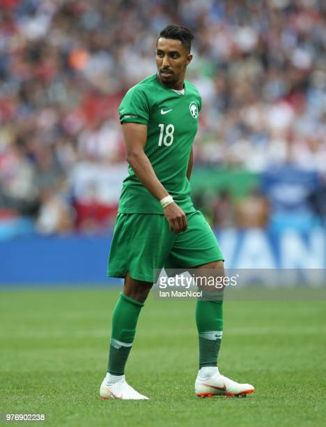 Salem Al Dossari of Saudi Arabia is seen during the 2018 FIFA World Cup Russia group A match between Russia and Saudi Arabia at Luzhniki Stadium on...