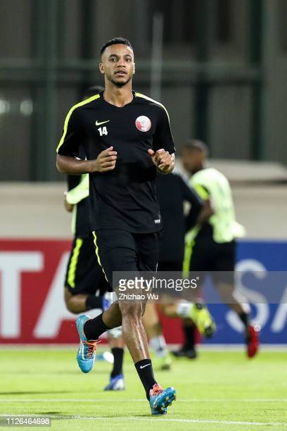Salem Al Hajri attends the training session at Armed Forces Stadium on January 31 2019 in Abu Dhabi United Arab Emirates