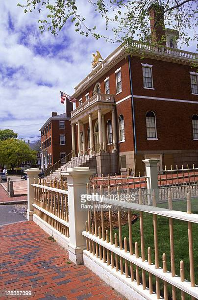salem, hawkes house and fence, 1819 - salem massachusetts stock pictures, royalty-free photos & images