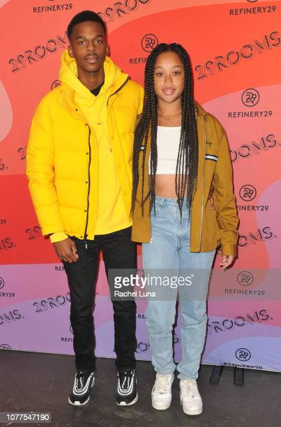 Salem Mitchell and guest attend Refinery29's 29Rooms Los Angeles 2018 Expand Your Reality at The Reef on December 04 2018 in Los Angeles California