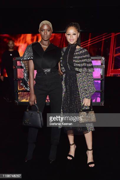 Salem Mitchell and Jodie TurnerSmith and attend Louis Vuitton X Opening Cocktail on June 27 2019 in Beverly Hills California