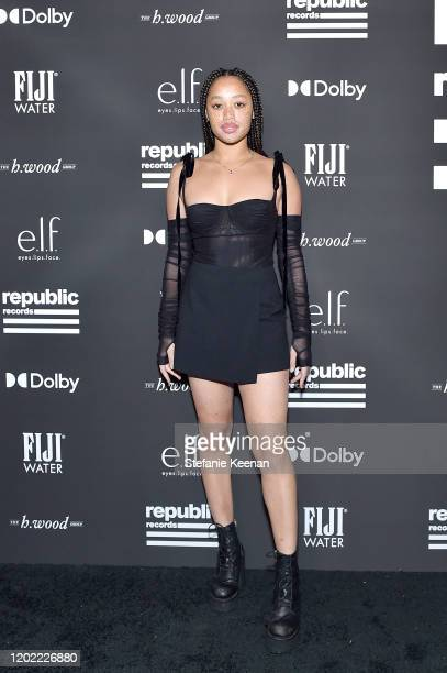 Salem Mitchell attends FIJI Water At Republic Records 2020 Grammy After Party on January 26 2020 in West Hollywood California