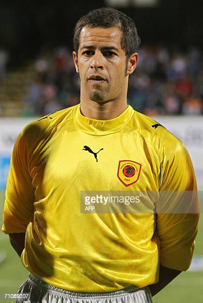 Angola's goalkeeper Ricardo Joao poses prior a friendly football match against Argentina in Salerno 30 May 2006 in preparation for the 2006 FIFA...