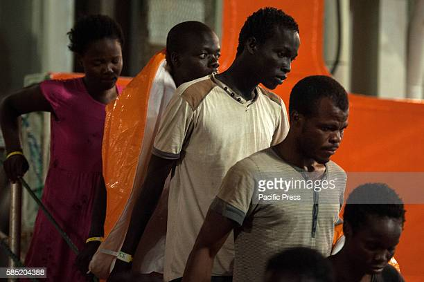 Salerno landing over 800 migrants from subSaharan Africa specifically they come from Somalia Libya Bangladesh Ghana Nigeria Ivory Coast Cameroon...