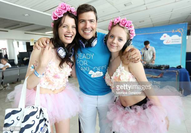 Sales and Marketing Director of Brussels Airlines North America Christophe Allard and guests attend the Brussels Airlines JFK Gate Party To...