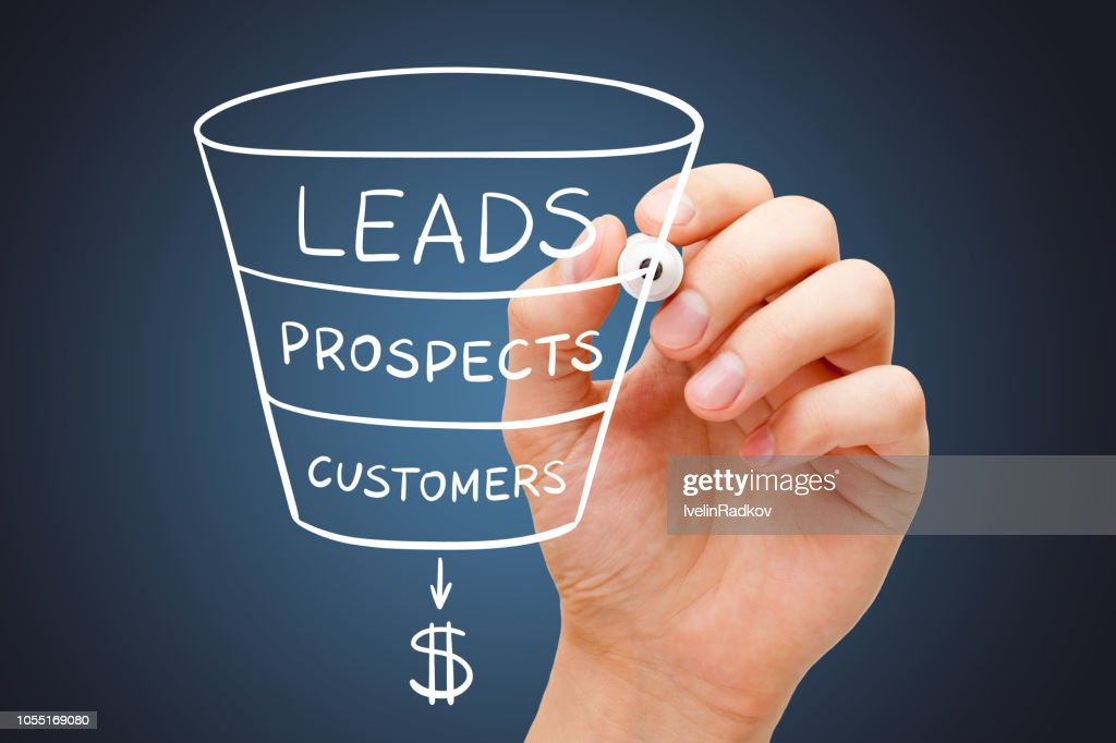 Sales Funnel Marketing Concept : Stock Photo