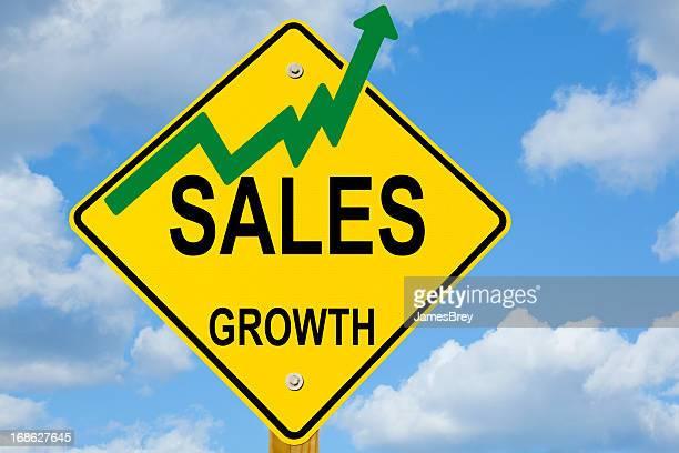 売上高成長率の道路標識