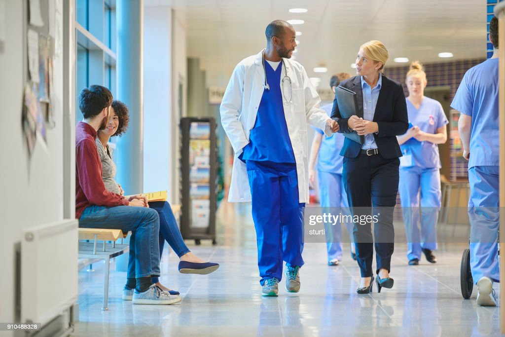 sales person at the hospital : Stock Photo