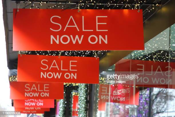 Sales signs up at troubled John Lewis Department store as Many stores in London premier shopping district on Oxford Street and have already started...