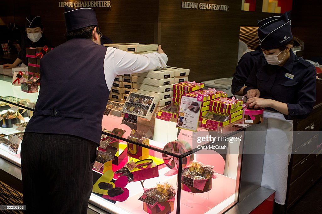 Japan Prepares For Valentines Day : News Photo