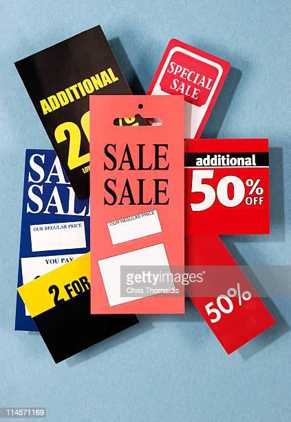 sales tags - escrita ocidental - fotografias e filmes do acervo