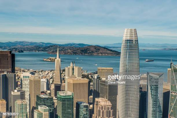 Salesforce Tower and San Francisco Bay