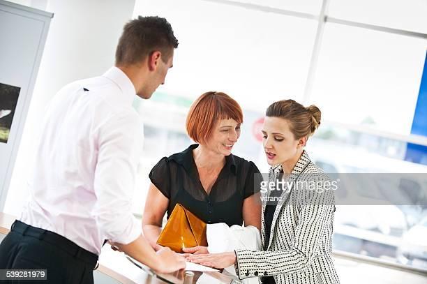 Salesman and two customer