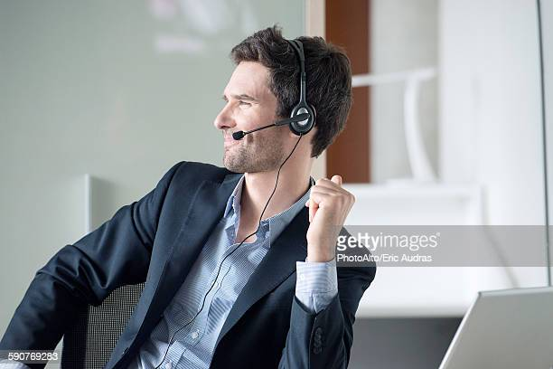 Salesman on phone call