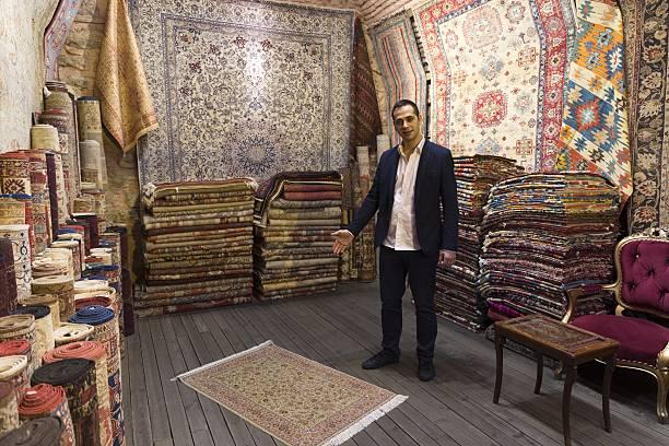 Turkish Carpet Shop In Grand Bazaar Istanbul Turkey