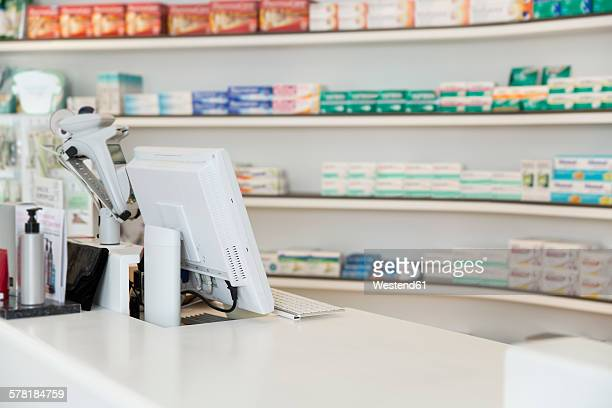 Salesroom of a pharmacy