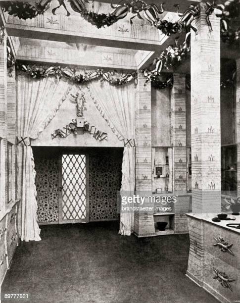 Salesroom of the Wiener Werkstaette in Zurich Bahnhofstraße Designed by Dagobert Peche Zurich Photograph Around 1918