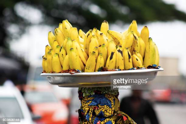 A saleswoman of bananas