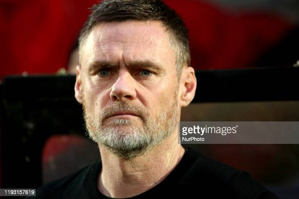 Salford City FC manager Graham Alexander during the Sky Bet League 2 match between Salford City and Northampton Town at Moor Lane Salford on Saturday...