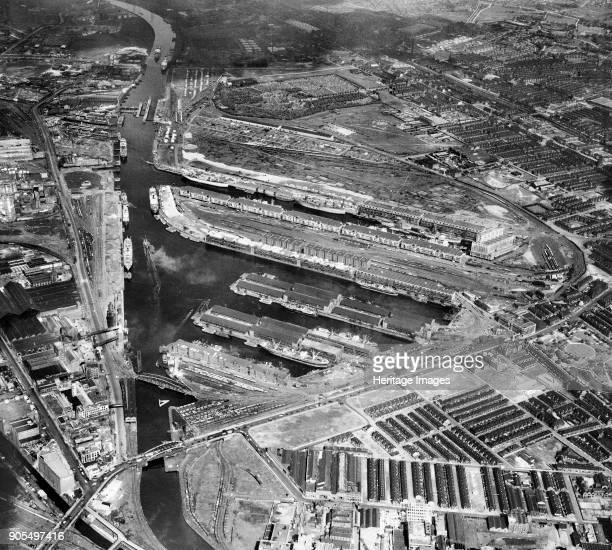 Salford Docks and Manchester Ship Canal, Salford, Greater Manchester, 1947. Artist Aerofilms.