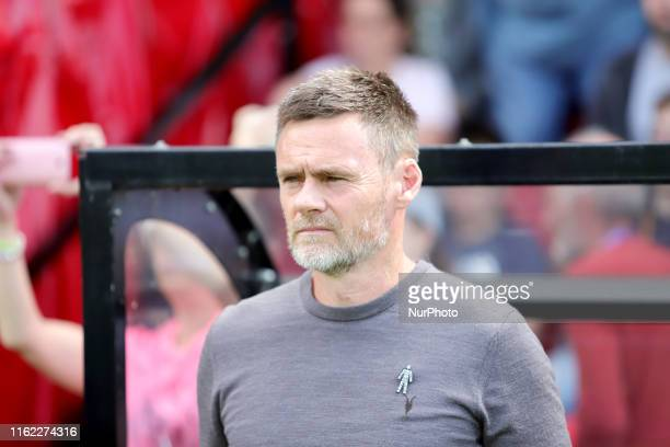 Salford manager Graham Alexander during the Sky Bet League 2 match between Salford City and Port Vale at Moor Lane Salford on Saturday 17th August...